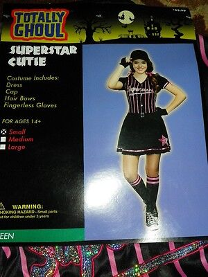 Baseball Girl Costumes (NEW Superstar Cutie Baseball Teen Girl's Costume Sz Small NWT - FREE)
