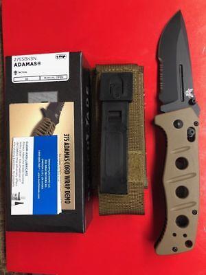 - NEW BENCHMADE ADAMAS 275SBKSN SAND G10 HANDLE BLACK D2 COMBO EDGE BLADE KNIFE