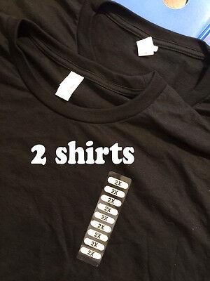 2 pack Anvil Tee Shirt T 100% Cotton Men's Short-Sleeve Black Crew Neck - Anvil Short Sleeve T-shirt