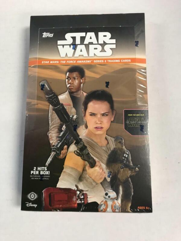 2016 TOPPS STAR WARS THE FORCE AWAKENS hobby box with 2 hits