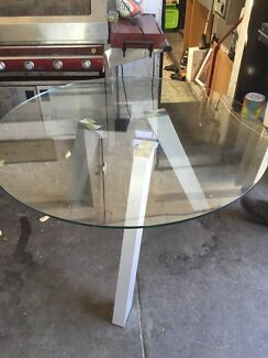 Round Glass Dining Table In Melbourne Region VIC