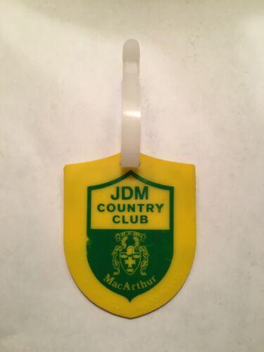 1975 JDM Country Club (Was PGA National GC Now BallenIsles CC) Golf Bag Tag