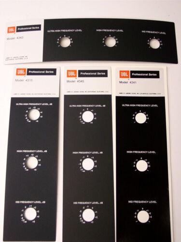 "JBL 4343, 4315, 4345, 4341,  ""REAL Foilcal""  (pair) ALUMINUM Badges QUALITY NEW!"