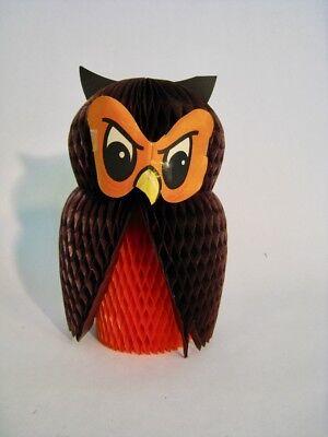 Vintage Halloween Honeycomb Owl Not a Reproduction Made in Denmark](Reproduction Vintage Halloween Decorations)