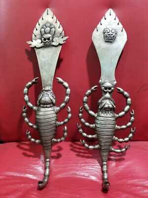 Scorpio Dorje Ritual Tantrik Khatvanga khatang Chittipati Antique Tibetan Nepal