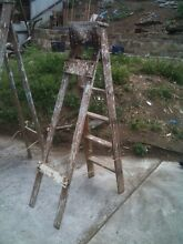 Wooden ladder (5 step) (single side) Warrawong Wollongong Area Preview