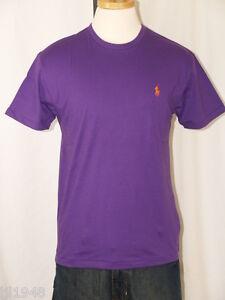 Polo ralph lauren vintage purple t shirt polo pony s m l for Black ralph lauren shirt purple horse