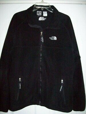 The North Face Mens Fleece Jacket  Black Size Large Zip Up Front
