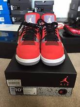 AIR JORDAN 4 TORO RED SIZE 10.5 Box Hill Whitehorse Area Preview