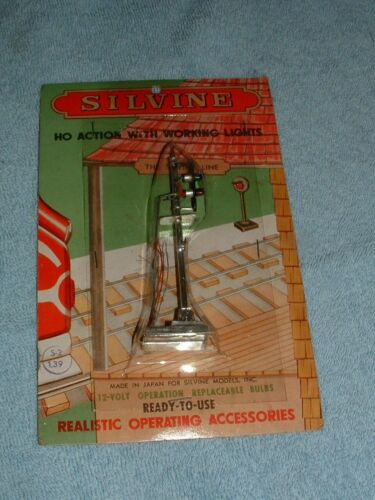 Silvine Vintage HO Colored Light Signal New in Pack