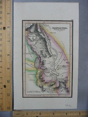 Rare Antique Orig VTG 1836 Leavitt Lord & Co Manasseh Atlas Map Engraved Print