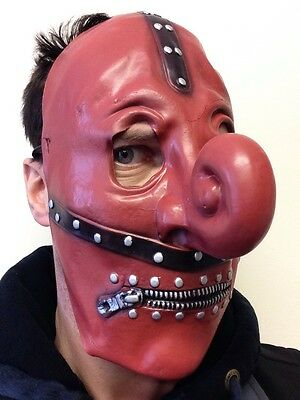 Slipknot Style Chris Fehn Mask Latex Curly Nose Zipper Face Fancy Dress Masks