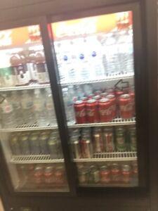 Juice fridge in new condition