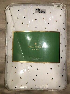 NIP Kate Spade Confetti Dot Multicolor 3-Piece Comforter Set Full Queen Kate Comforter Set