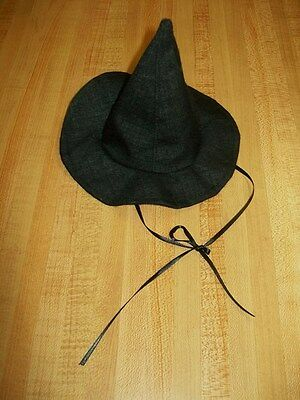 BLACK WITCH HALLOWEEN COSTUME HAT ONLY for dolls 14-18