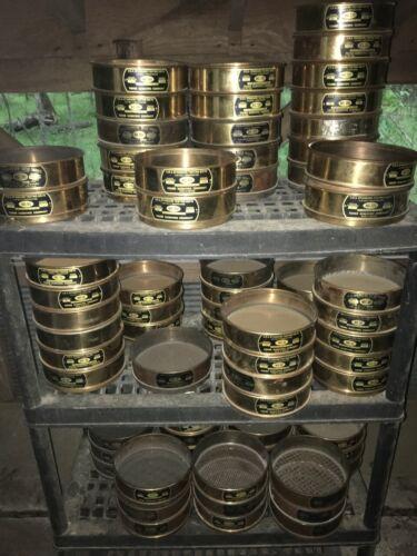 "U.S.A Standard Testing Sieves 8"" Brass No 4, 8, 10, 16, 20, 30, 40, 50,100, 200"