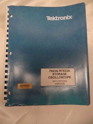 Tektronix 7623ar7633 Storage Oscilloscope Woptions Service Instruction Manual