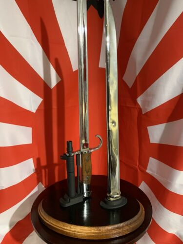 Display Stand for the Japanese Type 30 Bayonet & Scabbard  US WWII