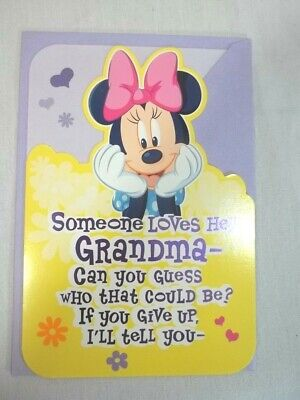 Mothers Day Card for Grandma Hallmark Disney Minnie Mouse From Granddaughter