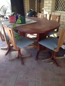 Free solid wood extendable dining table n 5 chairs Perth Perth City Area Preview