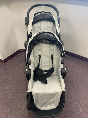 Baby Jogger City Select Double Stroller w/ 2nd Seat Kit - Silver Store Demo 2013