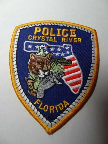 CRYSTAL RIVER FLORIDA.  POLICE   SHOULDER PATCH .