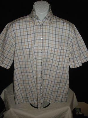Used,  Jack Lipson Gold  Mens Button Up Blue  Plaid Sz. M  GORGEOUS! for sale  Scottsdale