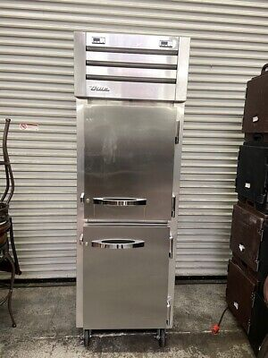 2 Split Half Door Refrigerator Freezer Reach In Stainless True Stg1dt-2hs 4909