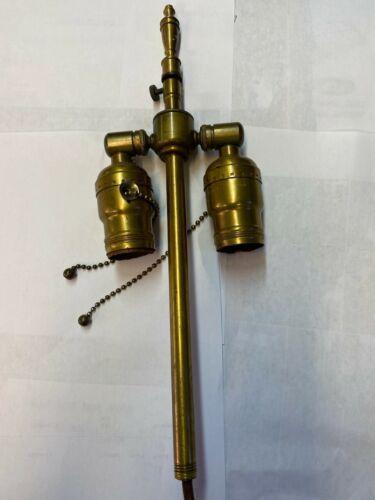 Vintage brass socket cluster mount for lamp restoration
