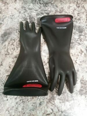 Salisbury E014b8 Size 8 Class 0 Black Natural Rubber Electrical Gloves
