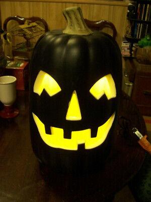 Halloween Pumpkin Blow Mold Black Light Up Foam Fake Jack lantern working 16
