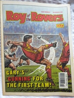Roy of the Rovers Comic 10 03 1990 Exc