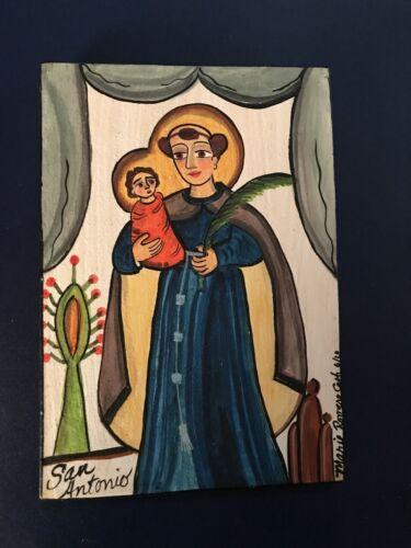 Santo Antonio,  Retablo, Santo, children, New Mexico, Saint Anthony
