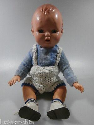 alte MINERVA Celluloid Puppe / Babypuppe; 35 cm