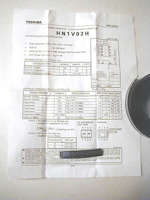 Toshiba Hf Hi-capacitance Dual Varactor Diodes 20-500 Pf 8 Pcs.nos