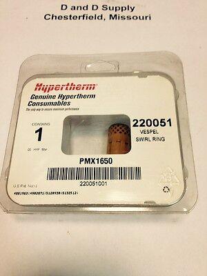 New Hypertherm Powermax 1650 Swirl Ring 100 Amp 220051 Addl Units Ship Free