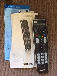 Philips Universal remote control SRP5004 4-in-1 backlit button Notting Hill Monash Area Preview