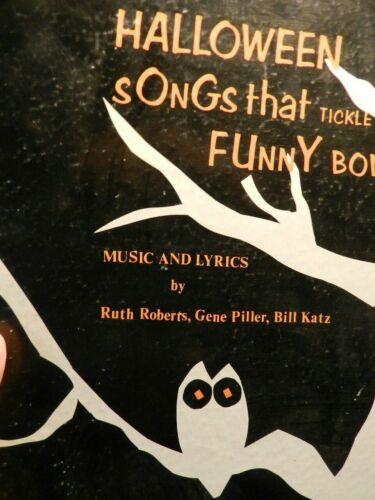 HALLOWEEN SONGS THAT TICKLE YOUR FUNNY BONE 33 rpm LP 1974 ROBERTS PILLER & KATZ