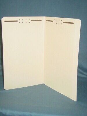 Allstate Manila Reinforced Tab Fastener Folders W2 Fasteners Legal Size 50-pack