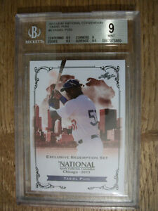 YASIEL PUIG 2013 Leaf National Convention #5 RC BGS MINT 9 Dodgers