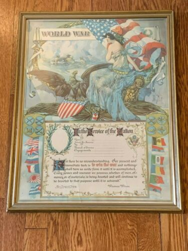 """WW1 Discharge Poster """"In the Service of the Nation"""" By Dan Smith, Unused"""