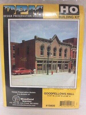 Goodfellows Hall Dpm Building Kit Ho Structure  10800 Model Railroad Or Diorama