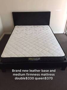 【BRAND NEW】leather bed frame and mattress double$330queen$370 Caulfield Glen Eira Area Preview