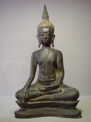 ANTIQUE BRONZE MEDITATING UTHONG BUDDHA, 18/19th C. RARE