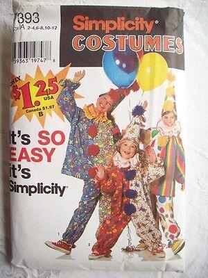 Easy Clown costume Boys girls size 10-12 7393