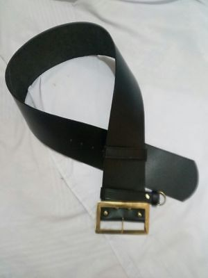 X Mas Offer NEW REAL Leather Santa Claus Belt w Solid Brass Buckle  - Real Santa Claus Kostüm