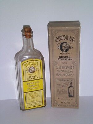 WATKINS DOUBLE STRENGTH IMITATION VANILLA EXTRACT COLLECTOR'S EDITION 1868-1973