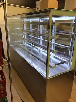 Glass & Stainless Steel Cafe Display Cabinet with LED Lighting Burwood East Whitehorse Area Preview