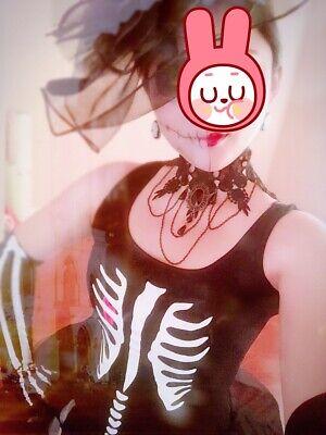 Women's Halloween custome, Black Skeleton Queen with accessories(size small) - Women Halloween Customes