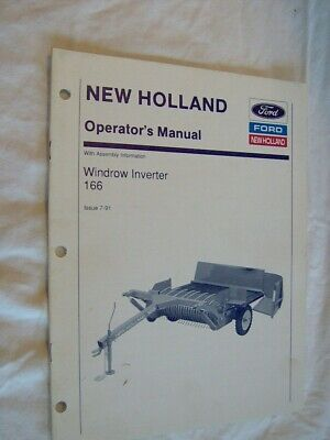 Ford New Holland 166 Windrow Inverter Operators Manual Farm Tractor Garden